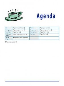 Meeting Agenda Template  Formal Meeting Agenda Template