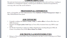 Hotel Manager Resume