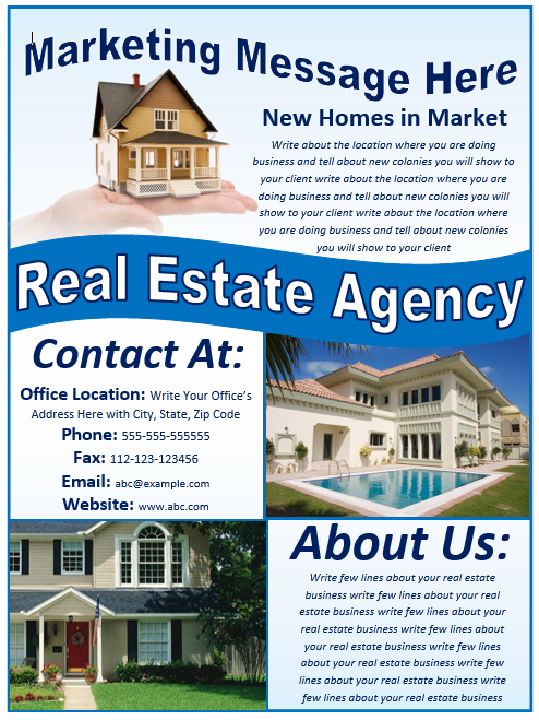Real Estate Flyer Template – Free Template Downloads