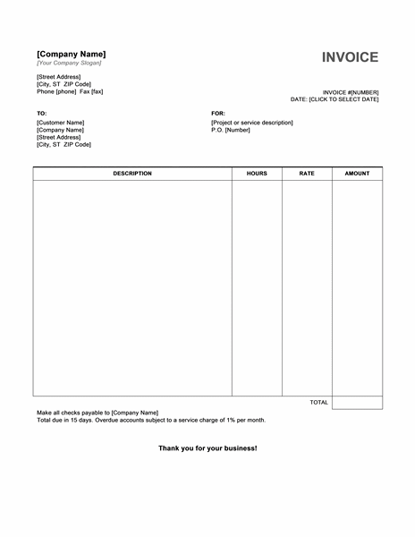 hourly invoice template – free template downloads, Invoice templates