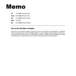 Office Memo Format