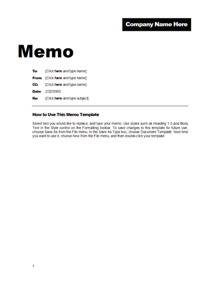 Here is a good looking Office Memo Template ,