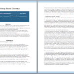 Advisory Board Contract Template