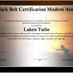 Martial Arts Event Winner Certificate Template