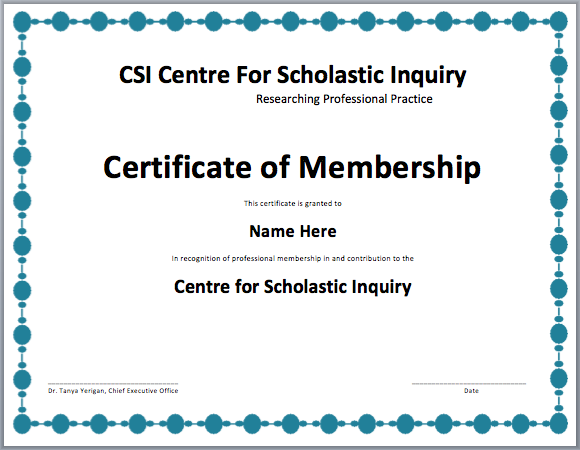 Membership Certificate Template Free Template Downloads – Shareholder Certificate Template