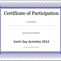 Participation Certificate Template