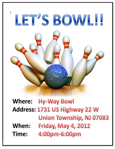 Bowling Game Flyer Templates Free Template Downloads