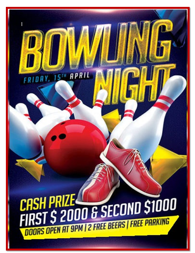 Here Is A Link Available For Download This Bowling Flyer Template,  Bowling Flyer Template Free
