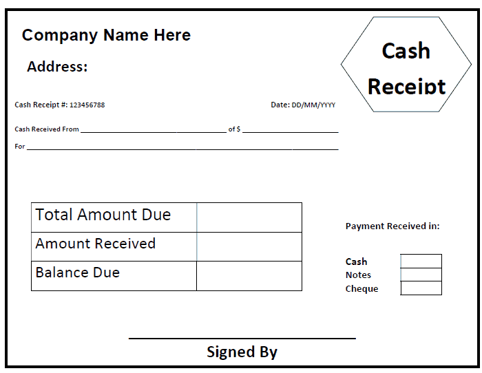59 Free Receipt Templates Cash Sales Donation Rent Payment – Receipt for Cash Payment