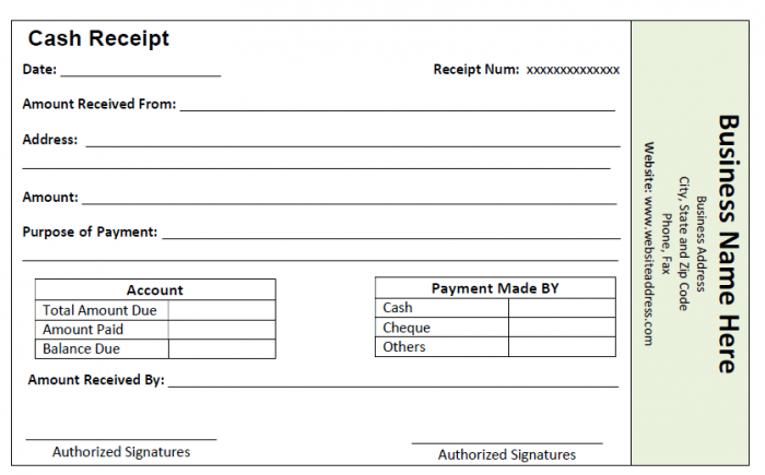 59 free receipt templates (cash, sales, donation, rent, payment, Invoice templates