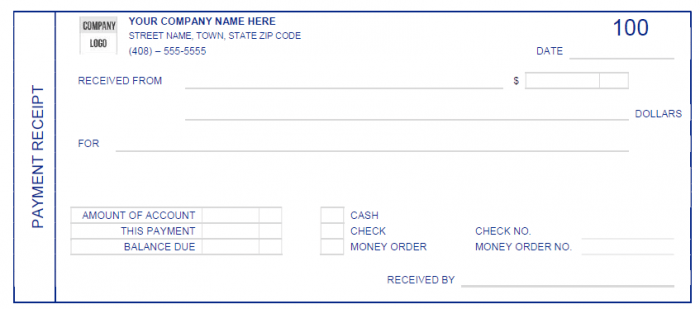 Here Is Download Link For This Cash Payment Receipt Template,  Money Receipt Template Word
