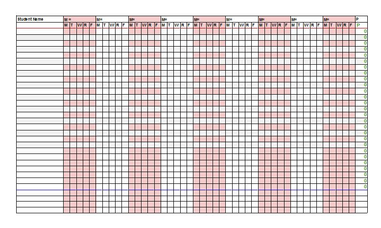 ... Free Printable Attendance Sheet Templates – Free Template Downloads