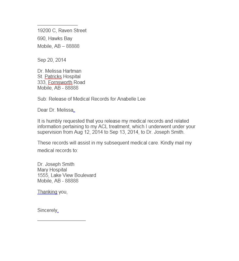 Authorization Letter 30  Letter Of Release Template