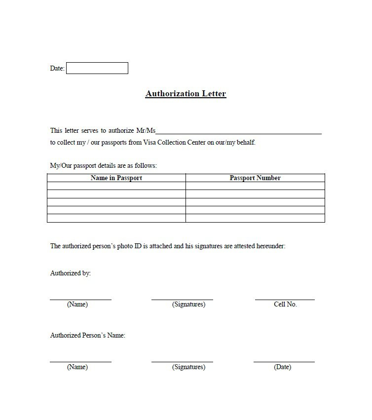 46 Free Authorization Letter Samples Amp Templates Free