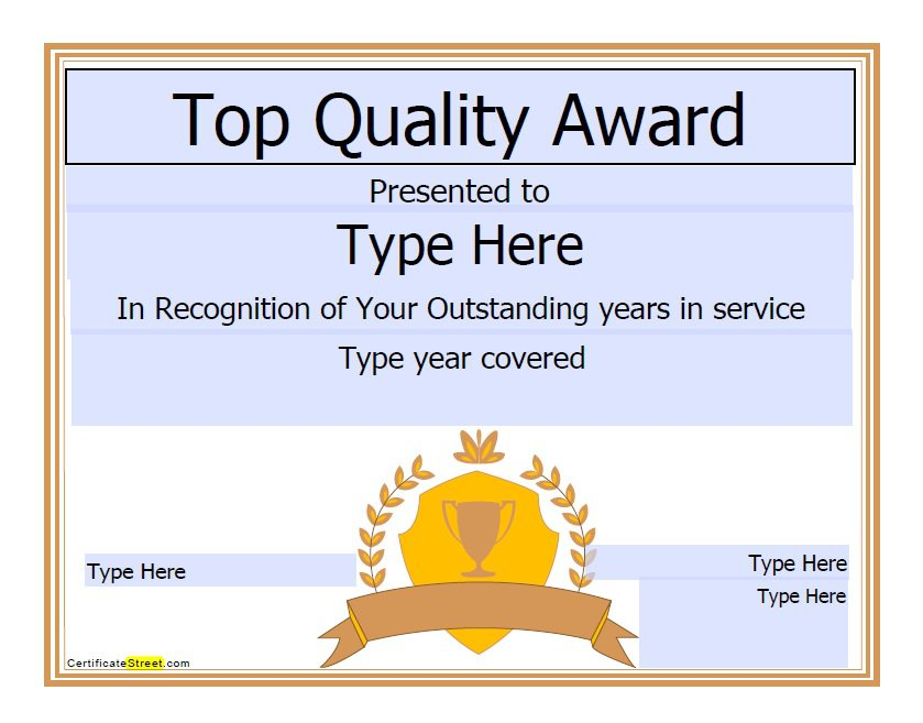 50 free amazing award certificate templates free for Certificate template download