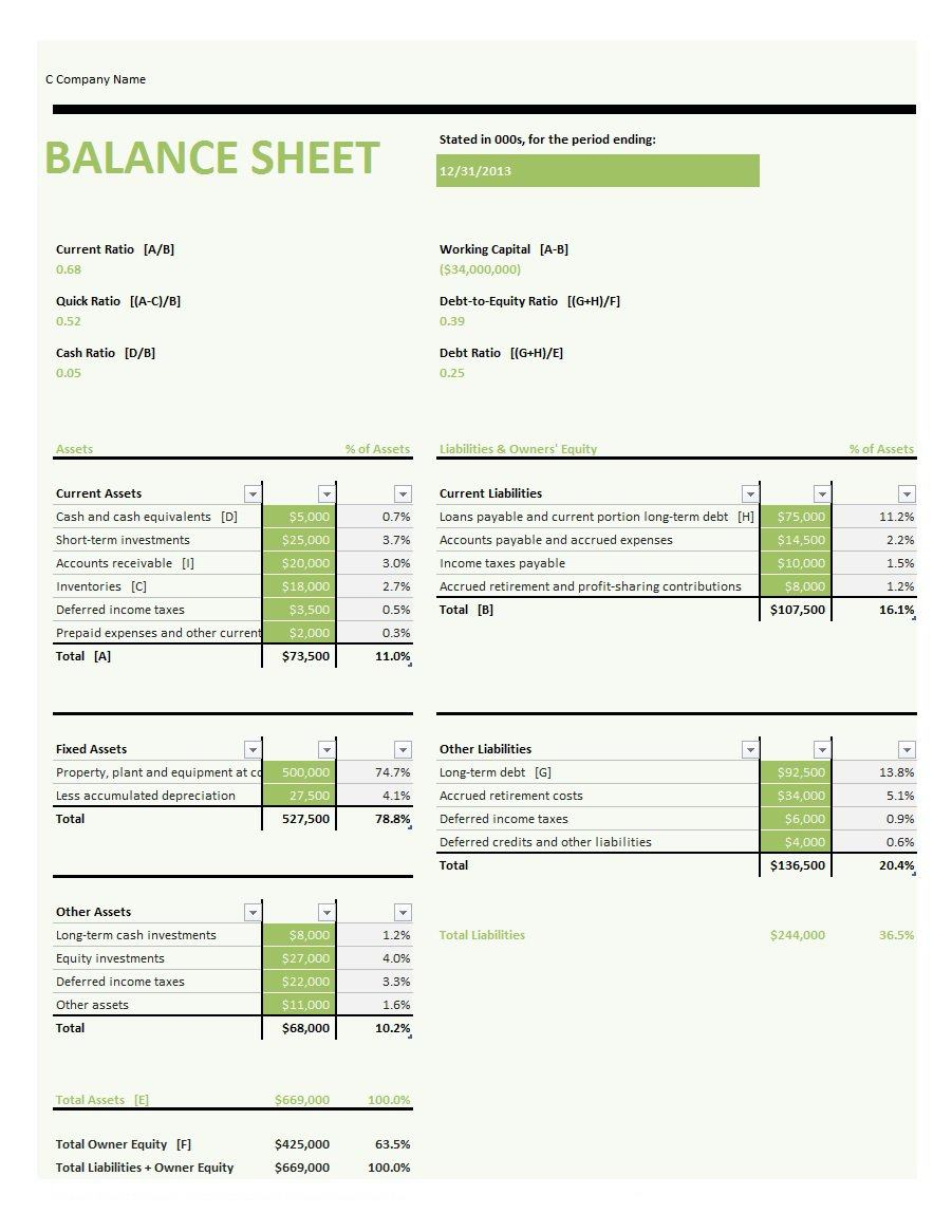 41 Free Balance Sheet Templates Examples Free Template Downloads – Free Balance Sheet Template