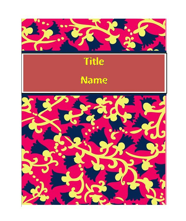 Notebook Cover Template ~ Free beautiful binder cover templates template
