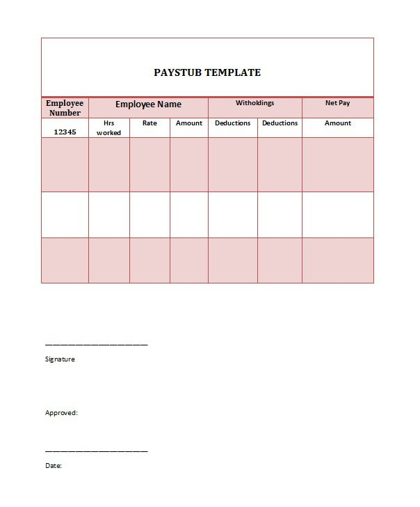 29 Great Pay Slip / Paycheck Stub Templates – Free Template Downloads