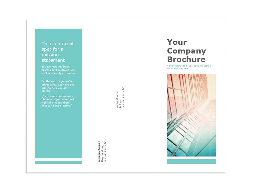 Brochure templates free downloads for Template word brochure