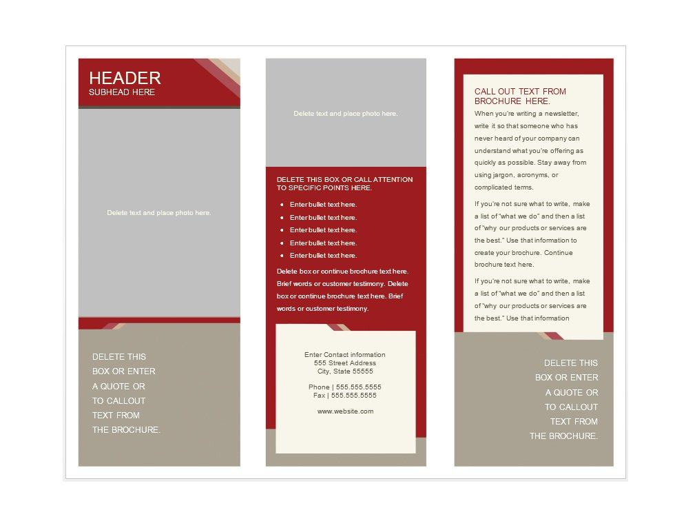 31 free brochure templates ms word and pdf free for Template for brochure free