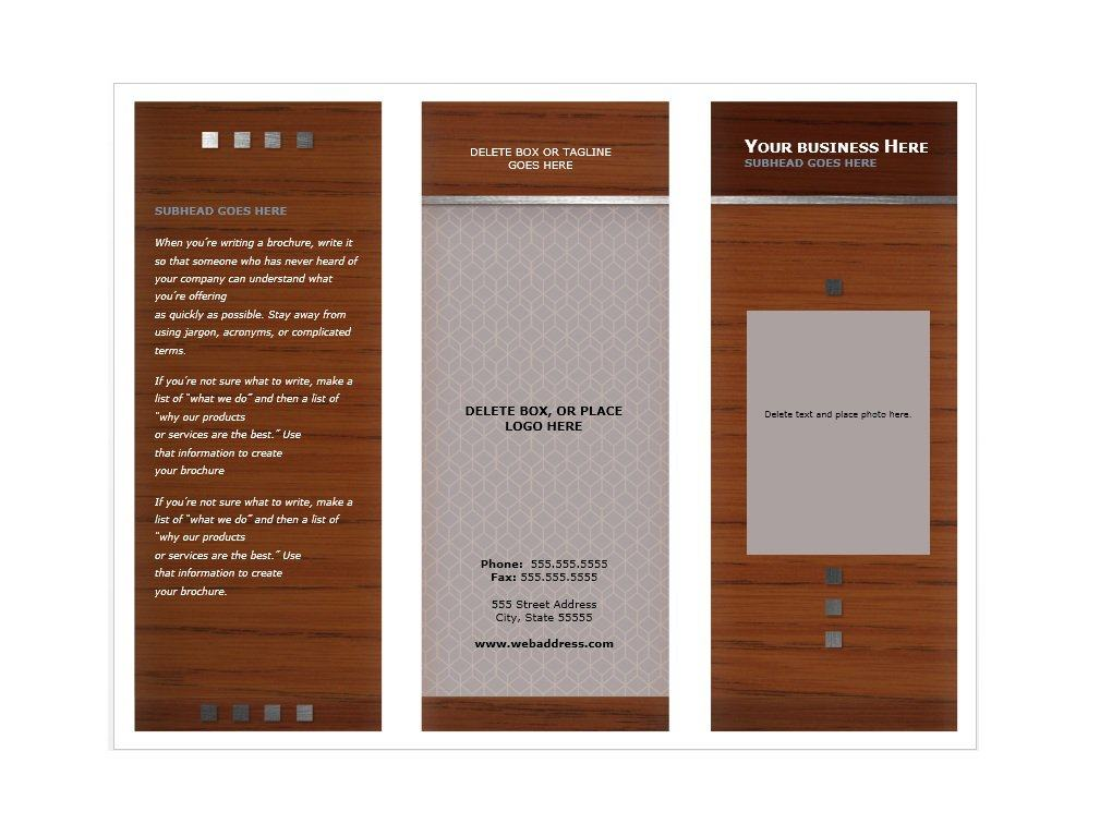 31 free brochure templates ms word and pdf free for Template of a brochure
