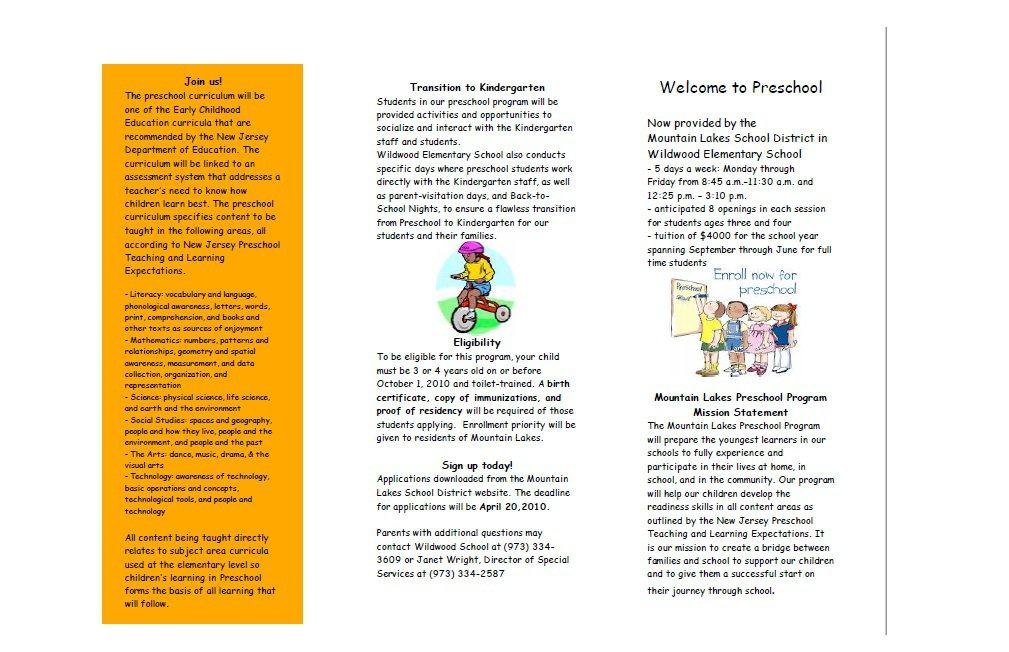 31 Free Brochure Templates MS Word and PDF Free Template Downloads – Kindergarten Brochure Template