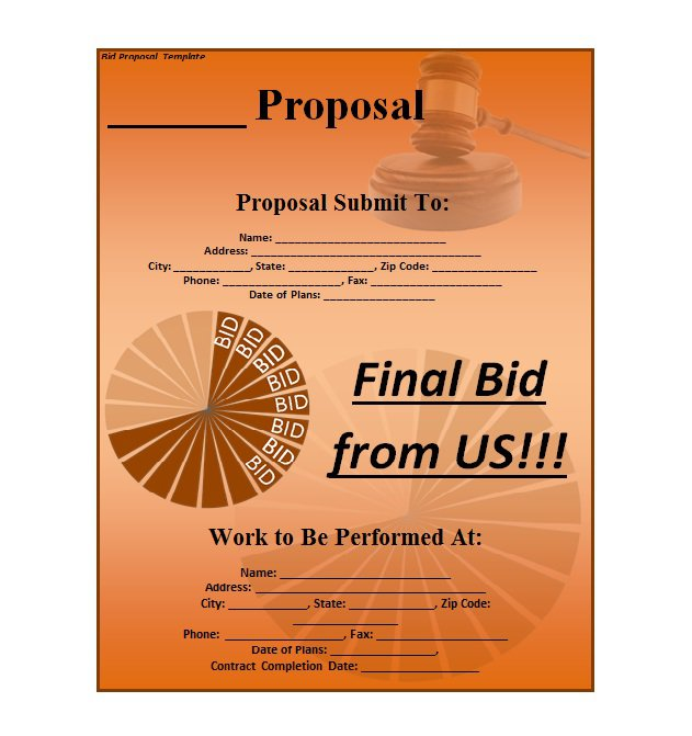 Business Proposal 01  Free Business Proposal Letter