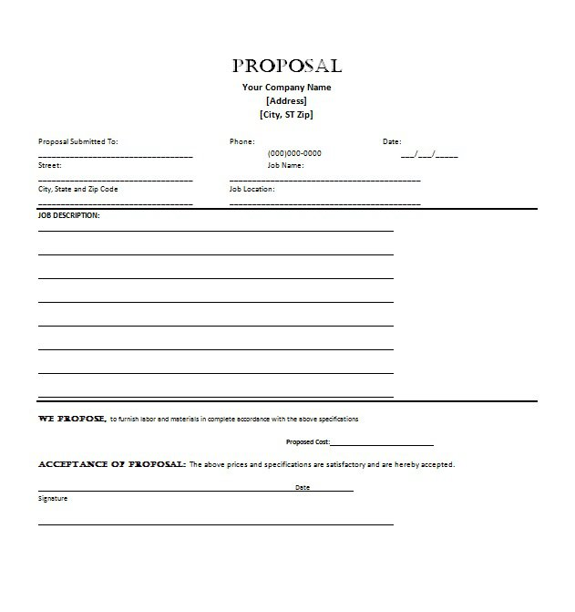 download proposal template