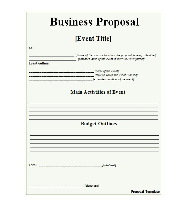 36 Free Business Proposal Templates & Proposal Letter Samples