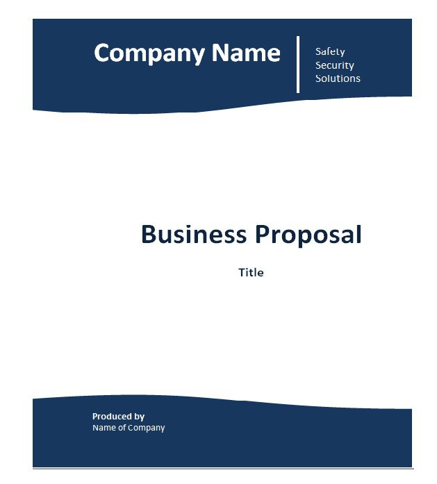 Free Business Proposal Templates  Proposal Letter Samples