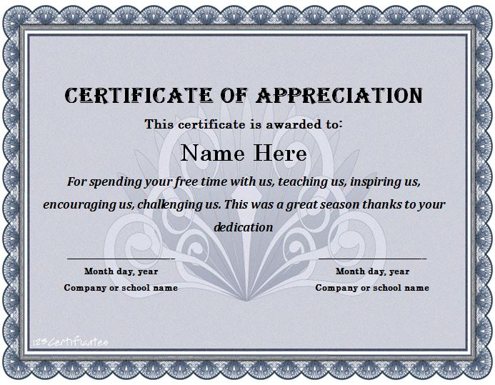 free printable templates for certificates of recognition - 31 free certificate of appreciation templates and letters