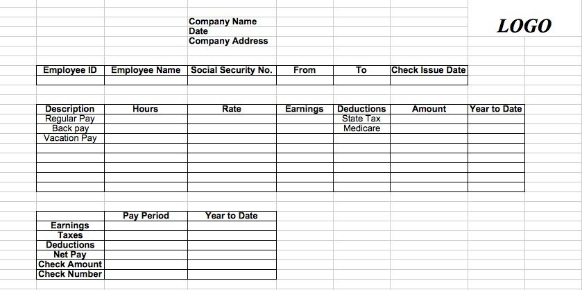 how to create a simple pay slip for a subcontractor