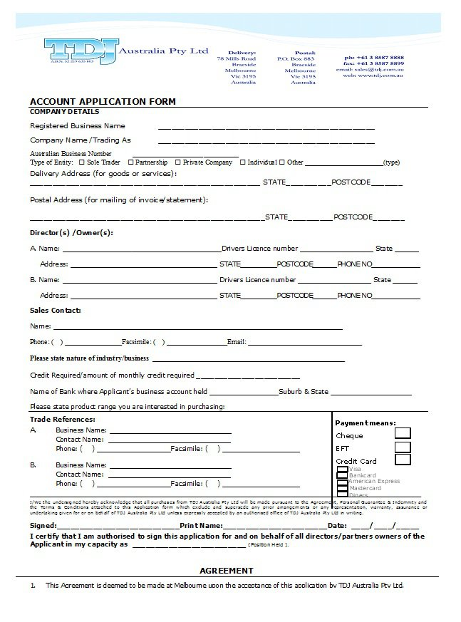 Free Credit Application Form Templates  Samples  Free