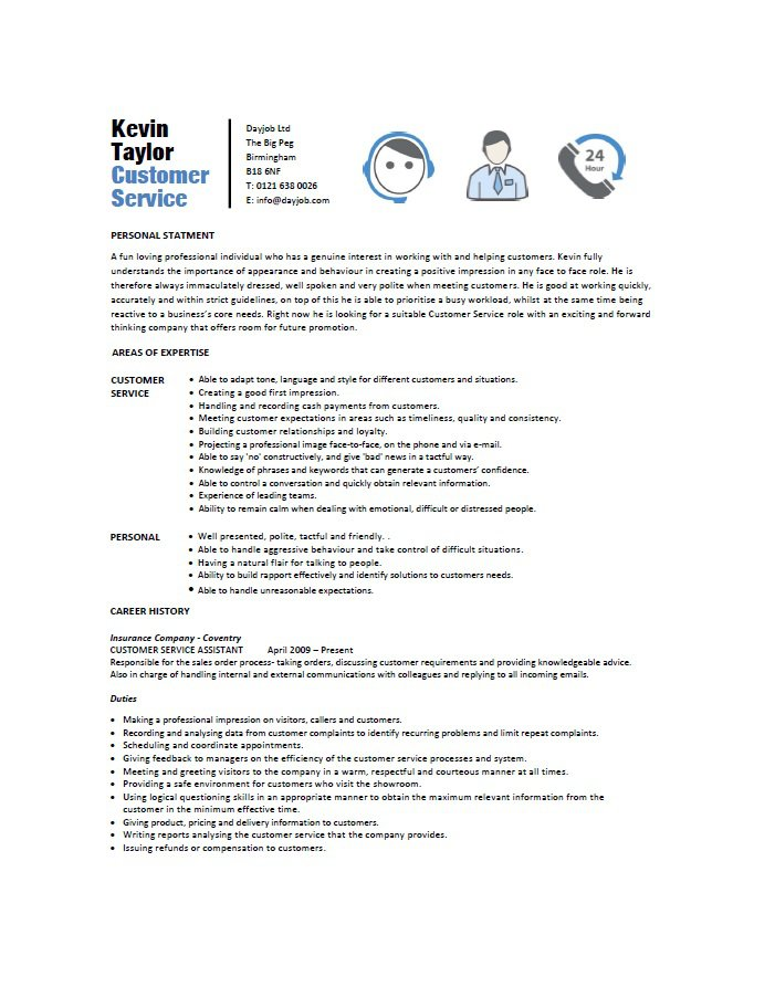 31 free customer service resume examples free template - Free Customer Service Resume Templates