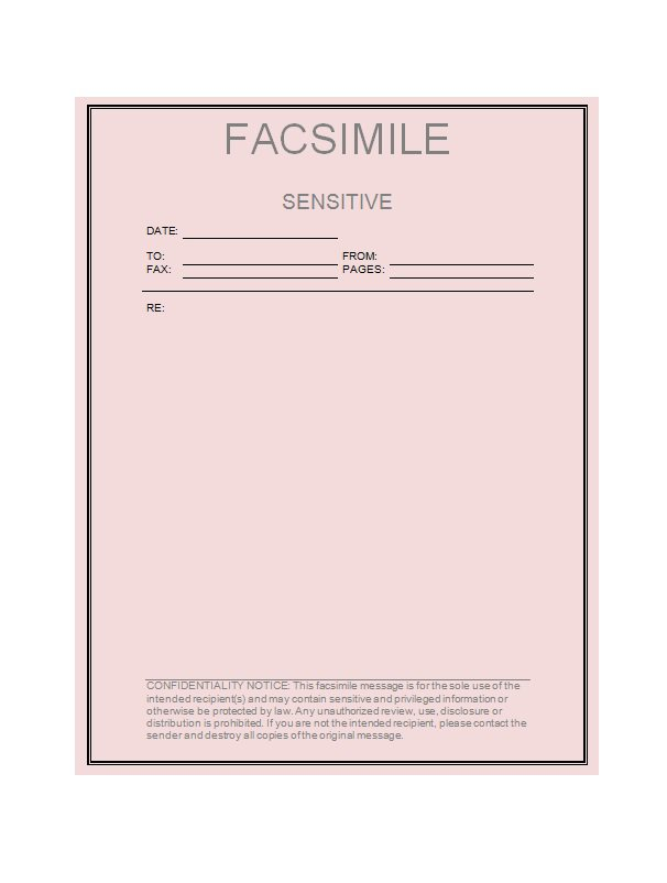 Printable Fax Cover Sheet Templates  Free Template Downloads