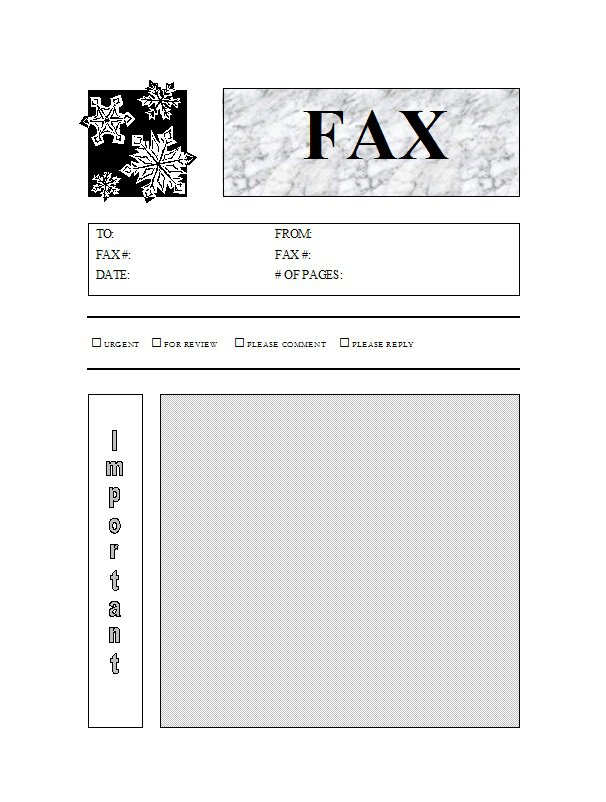 40 Printable Fax Cover Sheet Templates