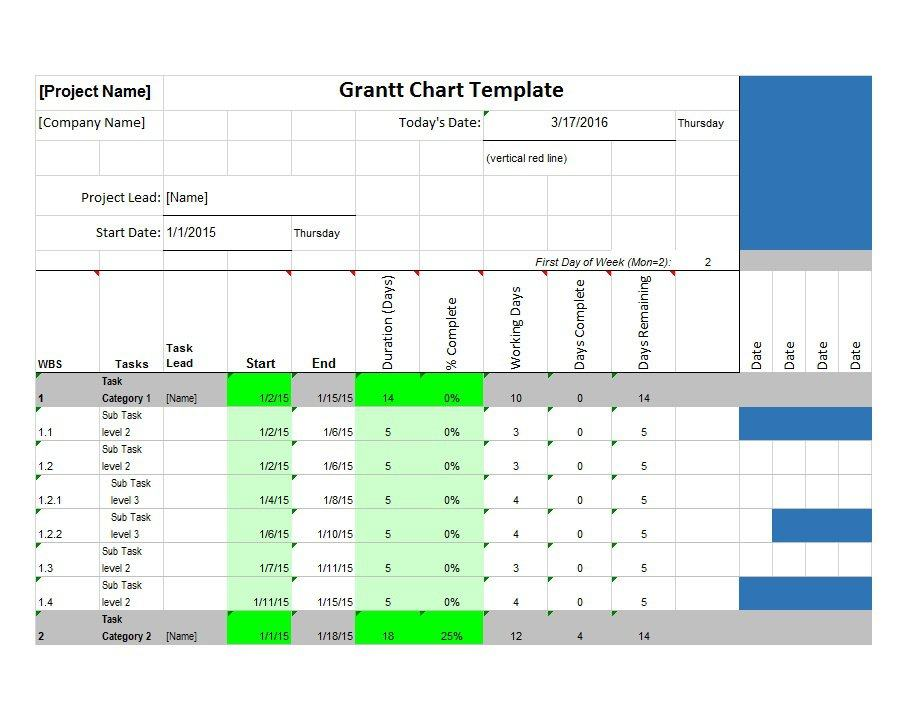 37 free gantt chart templates excel powerpoint word for Excel templates free download