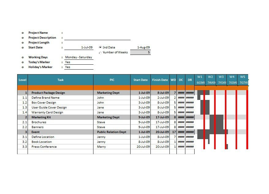 37 Free Gantt Chart Templates Excel Powerpoint Word Free