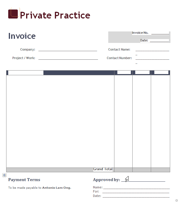This is a graphic of Sizzling Free Printable Invoice Pdf