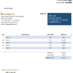 43 Free Invoice Templates: Blank, Commercial (PDF, Word, Excel)