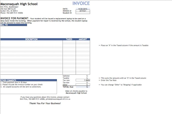 43 Free Invoice Templates: Blank, Commercial (PDF, Word, Excel ...