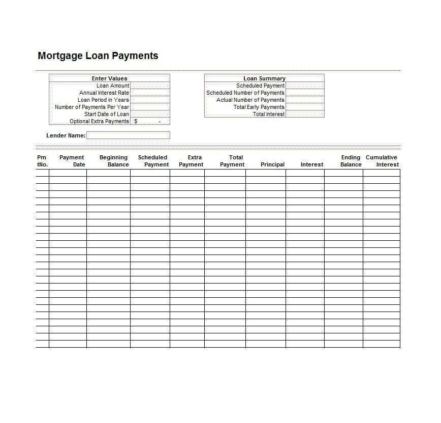 28 Tables To Calculate Loan Amortization Schedule Excel Free