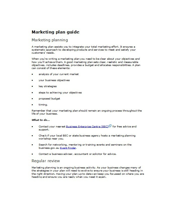33 free professional marketing plan templates free for Sales and marketing plan template free download
