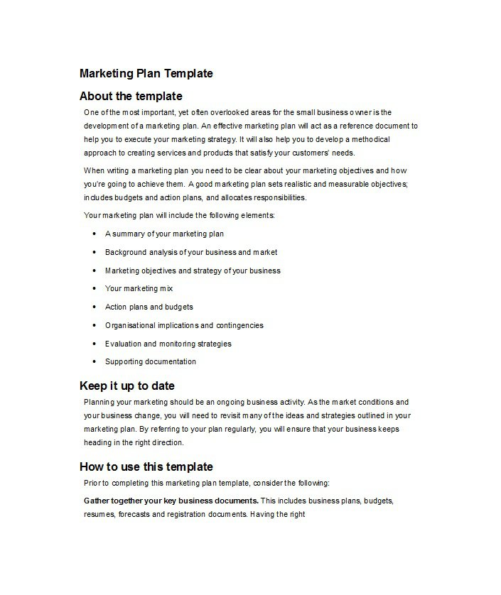 Marketing Plan Template 09
