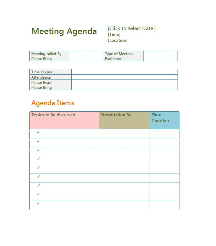 51 effective meeting agenda templates free template