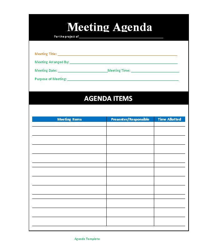51 Effective Meeting Agenda Templates – Free Template Downloads