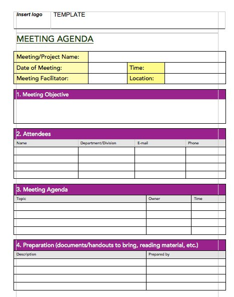 Handy Meeting Minutes  Notes Templates  Free Template Downloads