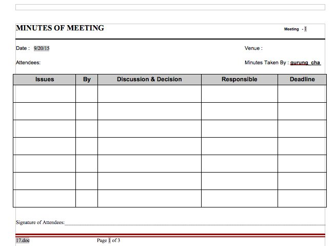 20 Handy Meeting Minutes & Notes Templates – Free Template Downloads