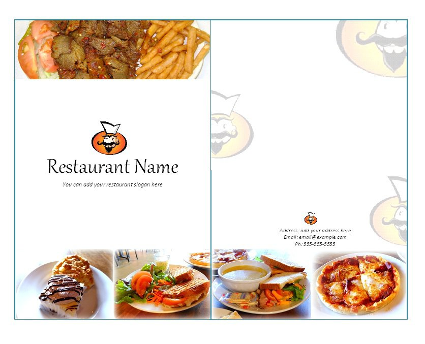 31 free restaurant menu templates designs free for Templates for restaurant menus