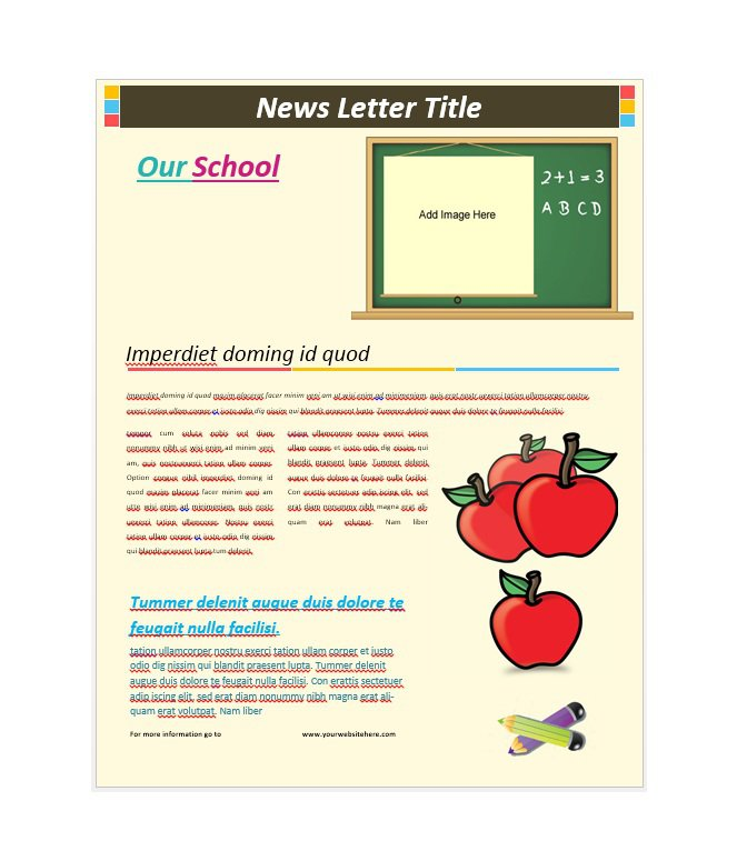 50 free newsletter templates for work school and for Newsletter layout templates free download